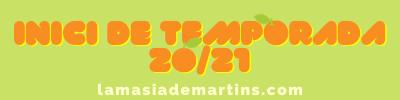 INICI DE TEMPORADA 2020/2021